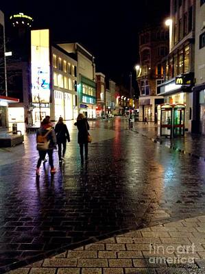 Photograph - Nighttime On Church Street 2 by Joan-Violet Stretch