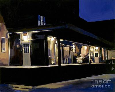 Loading Docks Painting - Nighttime On Southampton Street by Deb Putnam