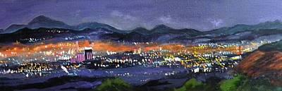 Nighttime Reno Art Print