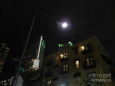 Photograph - Nighttime Towers Vintage And New Austin Texas by Felipe Adan Lerma