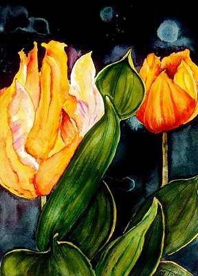 Painting - Nighttime Tulips by Lil Taylor