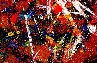 Abstract Expressionism Painting - Nighttown Music I by John  Nolan
