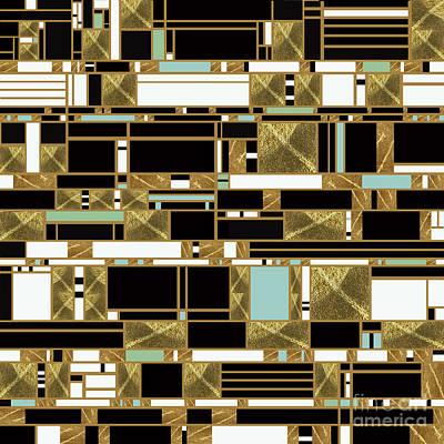 Modernist Mixed Media - Nightview  by Pamela Johnson Design