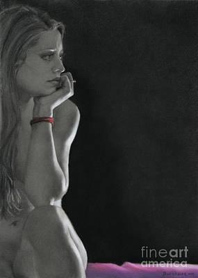 Drawing - Nightwatch by Kelly Borsheim