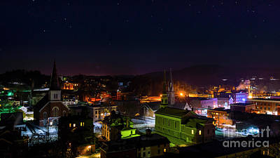 Photograph - Nigtht Time In Montpelier Vermont by Scenic Vermont Photography