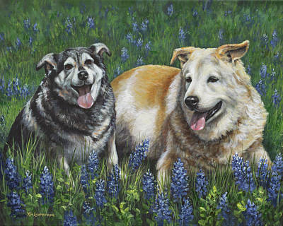 Painting - Nika And Winston by Kim Lockman