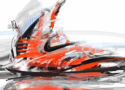Nike Basketball Art Print by Peter Fogg