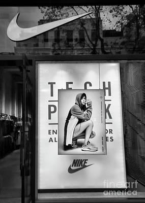 Nike Black Retail Store  Art Print