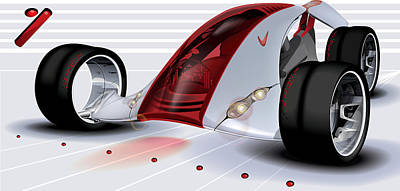 Digital Art - Nike Concept Car Ai by Brian Gibbs