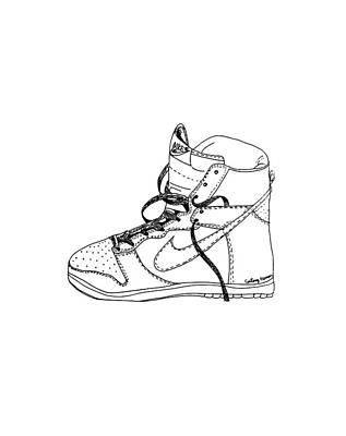 Nike Dunk 001 Art Print