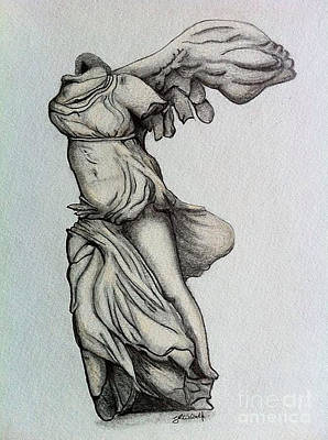 Nike Of Samothrace Art Print by Shane Whitlock