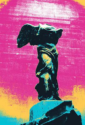 Louvre Mixed Media - Nike Of Samothrase by Shay Culligan