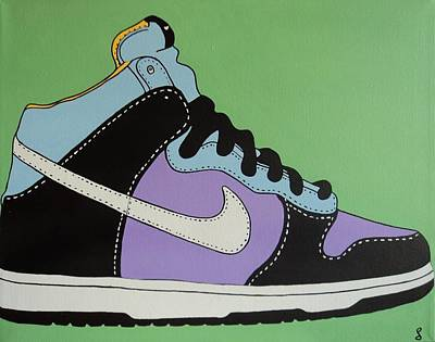 Just Do It Painting - Nike Shoe by Grant  Swinney