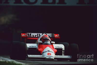 Photograph - Niki Lauda. 1984 Italian Grand Prix by Oleg Konin