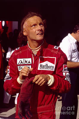 Niki Lauda. Marlboro Mclaren International Art Print
