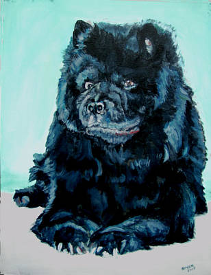 Art Print featuring the painting Nikki The Chow by Bryan Bustard