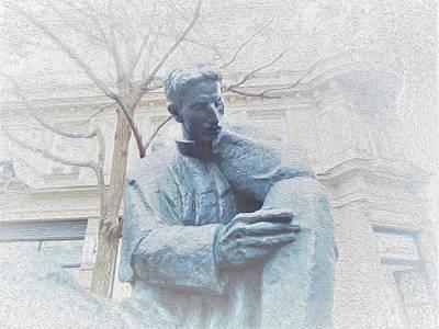 Digital Art - Nikola Tesla by Ann Johndro-Collins