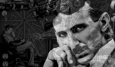 Nikola Tesla Collection Art Print by Marvin Blaine