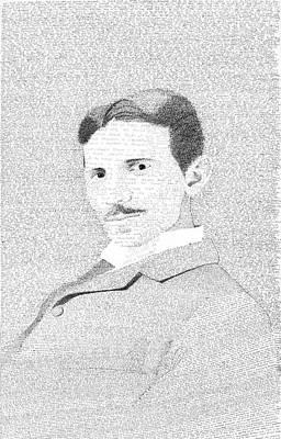 Drawing - Nikola Tesla In His Own Words by Phil Vance