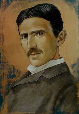 Painting - Nikola Tesla by Jovana Kolic