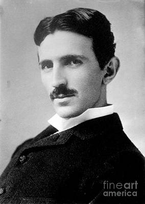 Alternating Current Photograph - Nikola Tesla, Serbian-american Inventor by Science Source