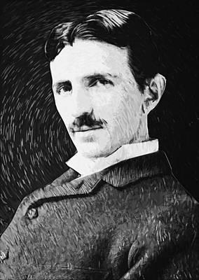 Nikola Tesla Art Print by Taylan Apukovska