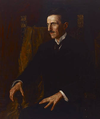 Inventions Painting - Nikola Tesla by Vilma Lwoff-Parlaghy