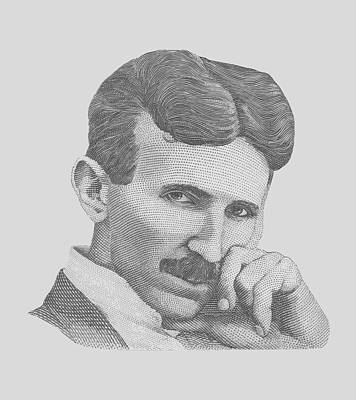 Physicist Painting - Nikola Tesla by War Is Hell Store