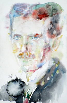 Nikola Tesla - Watercolor Portrait.3 Original