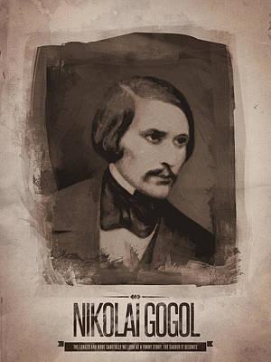Author Digital Art - Nikolai Gogol by Afterdarkness