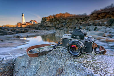 Photograph - Nikon F2 At Portland Head Lighthouse by Rick Berk