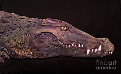 Crocodile Mixed Media - Nile Crocodile by Naia Hannah Haast