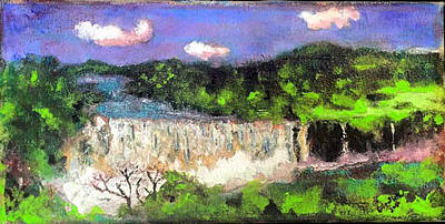 Painting - Nile Falls Ethiopia by Dilip Sheth