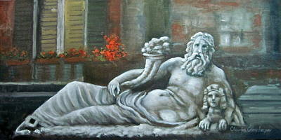 Painting - Nile God Of Napoli by Claudia Croneberger