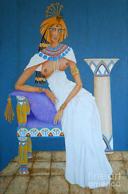 Painting - Nile Nymph -- Cleopatra, #1 In Famous Flirts Series by Jayne Somogy
