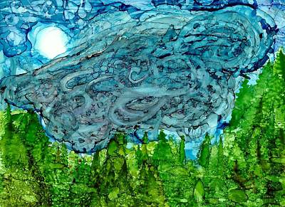 Joy Dorr Painting - Nimbus by Joy Dorr