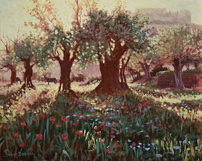 Painting - Nimrods Castle, Northern Galilee, Israel by Graham Braddock