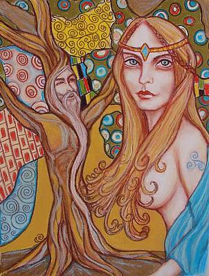 Nimue And Merlin Art Print by Tammy Mae Moon