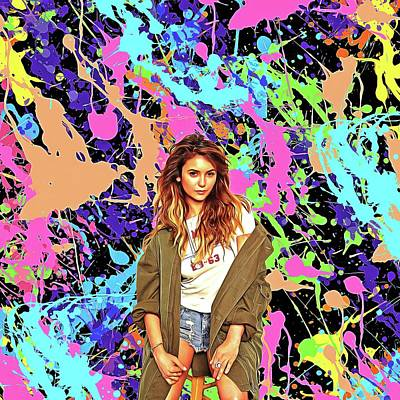 Nina Dobrev Painting - Nina Dobrev - Celebrity Art by Shraddha Sharma