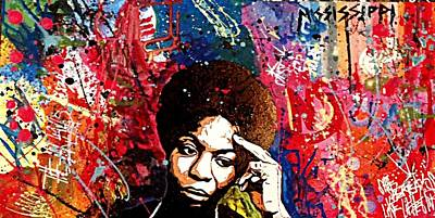 Nina Simone Painting - Nina Effect by Ashley Cathey