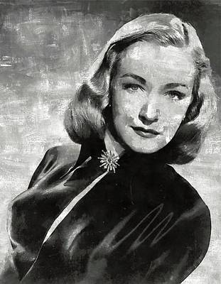 Nina Foch Hollywood Actress Art Print