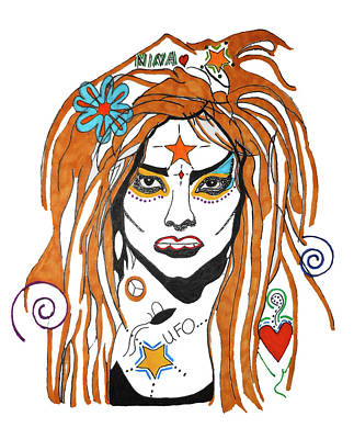Drawing - Nina Hagen by Christine Perry