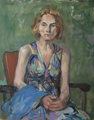 Nina In Patterned Dress Art Print