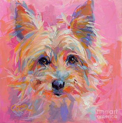 Yorkie Painting - Nina by Kimberly Santini