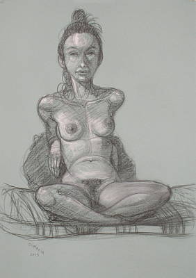 Drawing - Nina Seated by Donelli  DiMaria