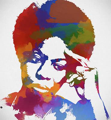 Malcolm X Painting - Nina Simone by Dan Sproul