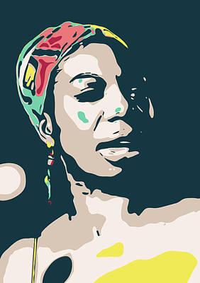 Jazz Royalty Free Images - Nina Simone Royalty-Free Image by Greatom London