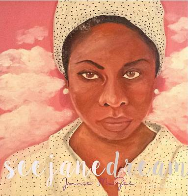 American Airmen Painting - Nina Simone by Janie McGee