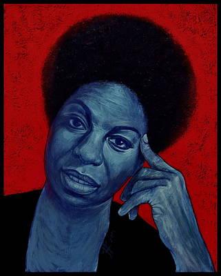 Painting - Nina Simone by Jovana Kolic