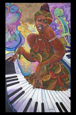 Painting - Nina Simone by Lee Ransaw